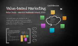 Value-based Marketing