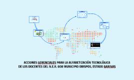 ACCIONES GERENCIALES PARA LA ALFABETIZACIÓN TECNOLÓGICA