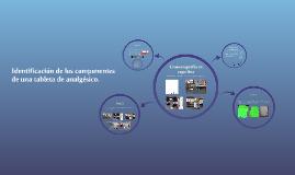 Identificacion de los componentes de una tableta de analgési