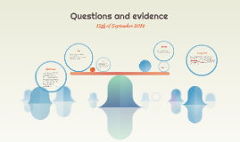 Questions and evidence
