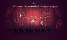 Welcome to Bluebirds Shakespeare Company
