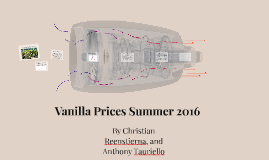 Rise In Vanilla Prices