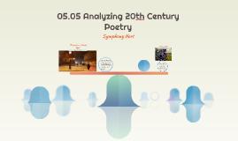 05.05 Analyzing 20th Century Poems