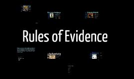 HPU - CRJ 3200 - Evidence Rules