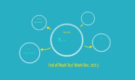 End of Block Test Week Dec. 2013