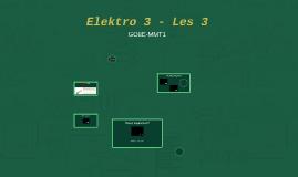 Elektro 3 - Les 3