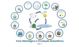 Aula 6 - Ciclo Hidrológico e Circulação atmosférica
