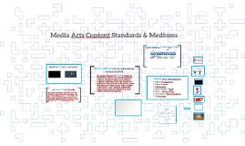 Media Arts Standards- Disciplines