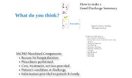 Model Discharge Summary