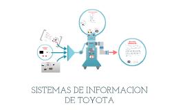 Copy of SISTEMAS DE INFORMACION  DE TOYOTA
