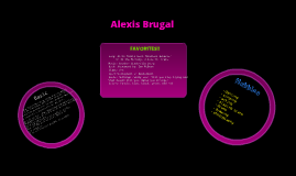 Copy of All About Me: Alexis Brugal