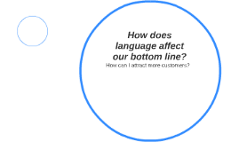 How does language affect our bottom line?