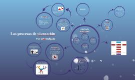 Los procesos de planeación