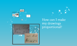 How can I make my drawings porportional?