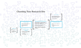 Choosing Your Research Site