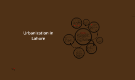 Urbanization in Lahore
