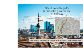E-tools and solutions in Estonian land governance 2018