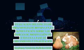 """""""EVALUACIÓN DEL EFECTO DE TRES NIVELES DE BETAINA EN LA ALIM"""