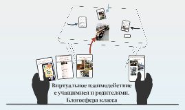 Виртуальное взаимодействие с учащимися и родителями. Блогосф