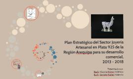 Plan Estratégico del Sector Joyeria Artesanal en Plat 925 de