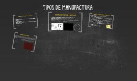 Copy of TIPOS DE MANUFACTURA