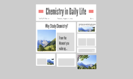 Copy of Chemistry in Daily Life