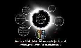 Técnicas de juicio oral - Nattan Nisimblat
