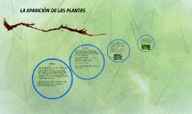 LA APARICIÓN DE LAS PLANTAS