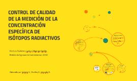 CONTROL DE CALIDAD DE LA MEDICIÓN DE LA CONCENTRACIÓN ESPECÍ