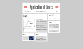 Application of Limits