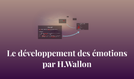 L'émotion par H.Wallon