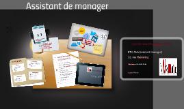 Copy of Assistant de manager