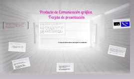 Producto de Comunicación Gráfica