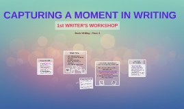 1st WRITER'S WORKSHOP
