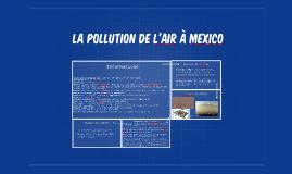 La pollution de l'air à mexico
