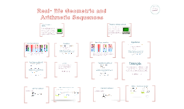 Real- life Geometric and Arithmetic Sequences