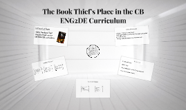 The Book Thief's Place in the CB ENG2DE Curriculum