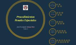 Procesos penales especiales