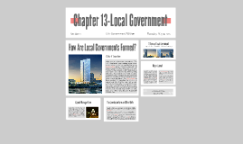 Chapter 13-Local Government