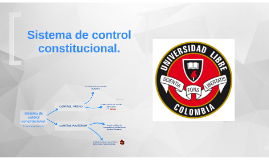 El sistema de control constitucional
