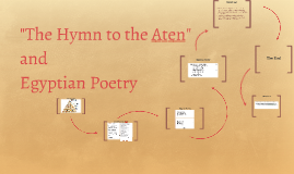 """The Hymn to the Aten"""