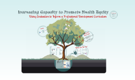 Copy of Increasing Capacity to Promote Health Equity: Using Evaluati