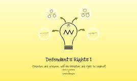 Defendant's Rights I