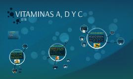 VITAMINAS A, D Y C