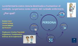 Copy of La enfermería como ciencia destinada a humanizar el cuidado.