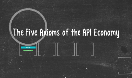 The Five Axioms of the API Economy