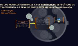 DE LOS MODELOS GENERALES A LOS PROTOCOLOS ESPECÍFICOS DE TRA