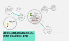 AUDITORIA VIAL DEL TRANSITO VEHICULAR DE LA RUTA: RECLUSORIO