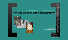 Writing an Annotated Bibliography - General