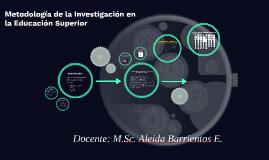 Metodología de la Investigación en la Educación Superior